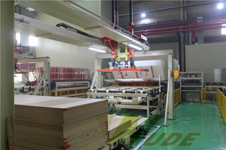 China Single Layer PB / MDF Board Laminating Line , Hot Press Lamination Machine supplier