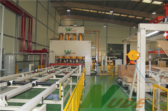 China Auto Laminate Flooring Production Machine , Single Layer MDF Laminating Machine supplier
