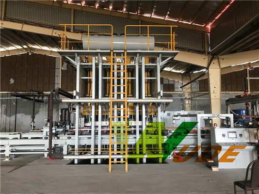 China High Pressure Embossing Short Cycle Laminating Line / Synchronous Laminating Press supplier