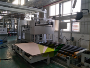 China Automatic Short Cycle Lamination Line , MDF / HDF / PB Board Laminate Machine company