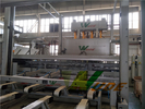 China Melamine Short Cycle Furniture Laminating Line Two Sides With Temperature Control company
