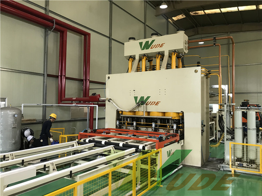 China Industrial MDF PB Short Cycle Lamination Line , Short Cycle Press Machine factory