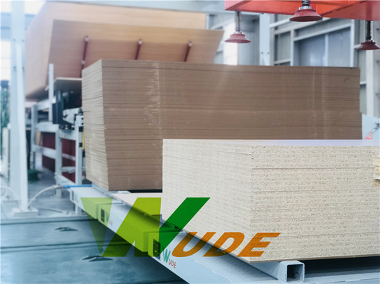 Furniture Short Cycle Lamination Line PLC Control For MDF And Particle Board