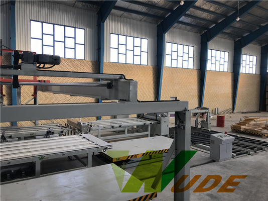 China Particle Board Hot Press Machine With Double Side Synchronous Laminating factory