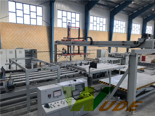 China Furniture Board Double Sided Synchronous Laminating Line Hot Press Full Automatic factory