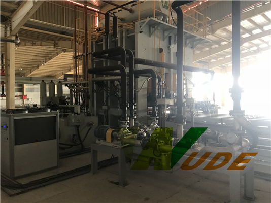 China Servo Motor Driving Double Sided Synchronous Laminating Line Hot Press Machine factory