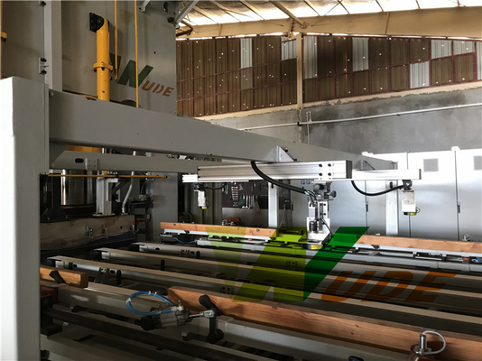 Full Automatic Short Cycle Double Side Synchronous Hot Press For Laminate Flooring