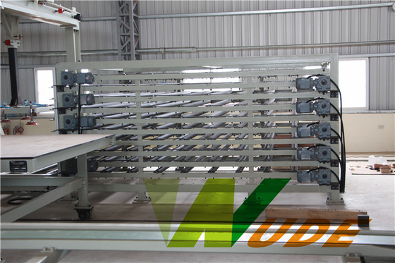 Laminate Flooring Production Line , Automatic Paper Laminating Machine Hot Press