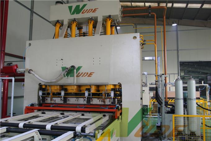 Single Layer PB / MDF Board Laminating Line , Hot Press Lamination Machine