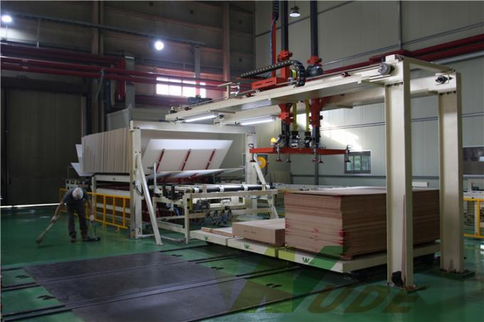 Auto Laminate Flooring Production Machine , Single Layer MDF Laminating Machine