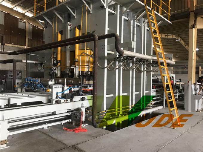 Furniture Board Double Sided Synchronous Laminating Line High Pressure Short Cycle