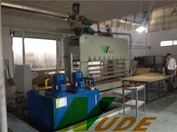 High Glossy Board Laminated Production Line , Plywood Lamination Machine