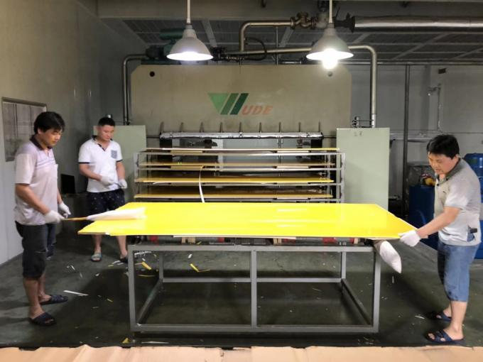 Plywood Manufacturing Machinery , High Gloss Boards Laminated Production Line